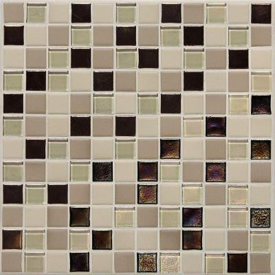 Coastal Keystones Sunset Cove 12 in. x 12 in. x 6 mm Glass Mosaic Floor and Wall Tile