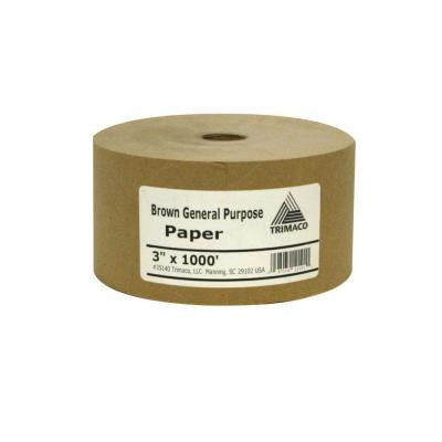 3 in. x 1000 ft. Brown Masking Paper