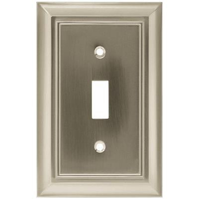 Architectural 1 Toggle Switch Wall Plate - Satin Nickel