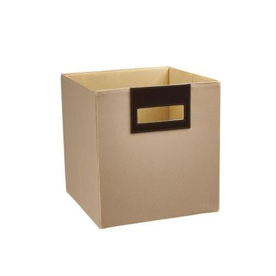 10.5 in. x 11 in. x 10.5 in. Toasted Almond Polyester Storage Drawer