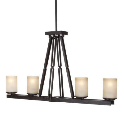 Alta Loma 4-Light 72-3/4 in. Dark Ridge Bronze Island Light