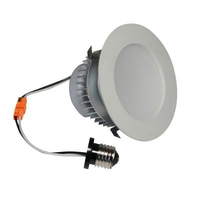 4 in. White Dimmable LED Recessed Downlight
