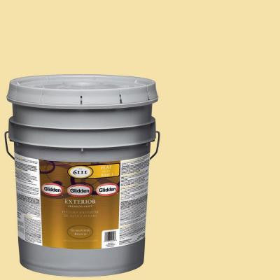 5-gal. #HDGY16D Summer Cottage Yellow Flat Latex Exterior Paint