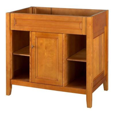 Exhibit 36 in. W x 21.63 in. D x 34 in. H Vanity Cabinet Only in Rich Cinnamon
