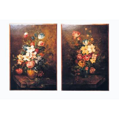 "42 in. x 30 in. ""Bouquet"" Wall Art (Set of 2)"