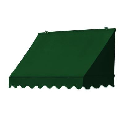 8 ft. Traditional Awning Replacement Cover (25 in. Projection) in Forest Green
