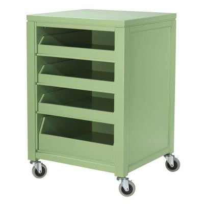 31 in. H Rhododendron Leaf Cart With Pull Out Trays