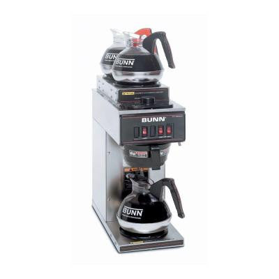 VP17 Low Profile 192 oz. Commercial Coffee Brewer with 3 Lower Warmers in Stainless Steel