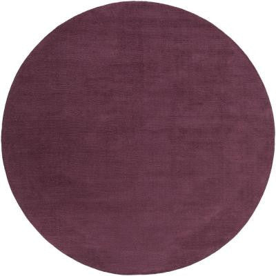 Falmouth Eggplant 8 ft. x 8 ft. Round Indoor Area Rug
