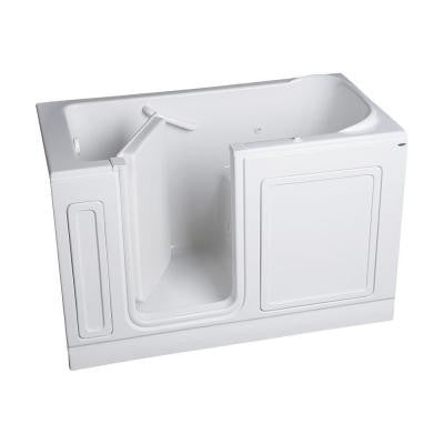 Acrylic Standard Series 60 in. x 32 in. Walk-In Whirlpool Tub in White