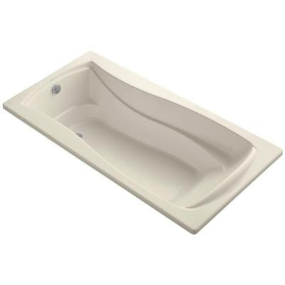 Mariposa 6 ft. Reversible Drain Soaking Tub in Almond with Bask Heated Surface