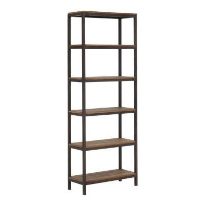 Mission Bay 6- Shelf 31.5 in. W x 86.6 in. H x 13.8 in. D Wood Tall Shelving Unit in Distressed Natural