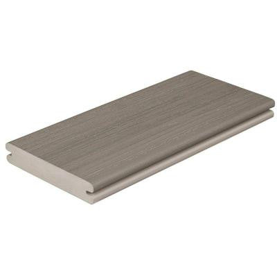 Paramount 1 in. x 5-4/9 in. x 20 ft. Sandstone Grooved Edge Capped Cellular PVC Decking Board (56-Pack)