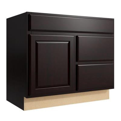 Salvo 36 in. W x 31 in. H Vanity Cabinet Only in Coffee