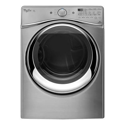 Duet 7.3 cu. ft. Electric Dryer with Steam in Diamond Steel, ENERGY STAR