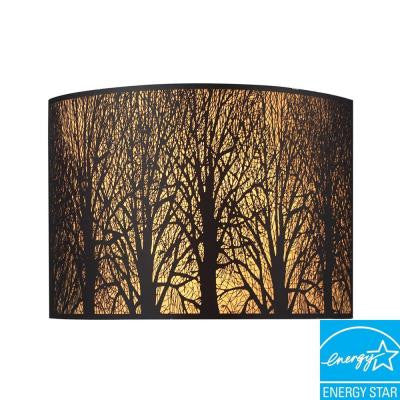 Woodland Sunrise 2-Light Aged Bronze Sconce