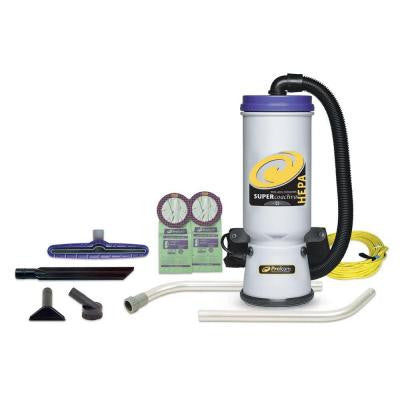Super CoachVac HEPA Backpack Vacuum with 14 in. Multi-Surface Floor Tool and Wand (2-Piece)