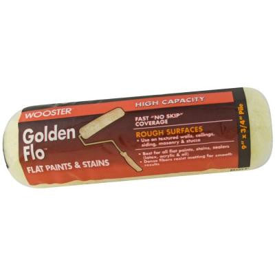9 in. x 1/2 in. Golden Flo Medium-Density Fabric Roller Cover