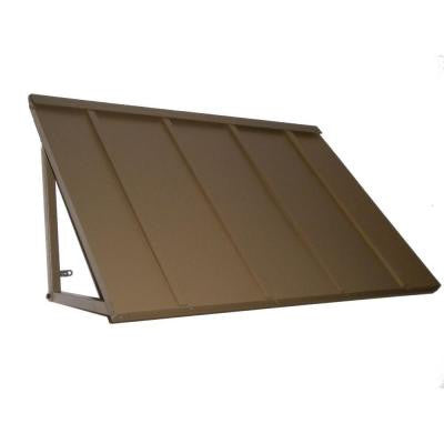 Awntech's 4 ft. Houstonian Metal Standing Seam Awnings (56 in. W x 24 in. H x 36 in. D) in Olive