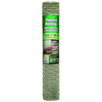 1 in. x 2 ft. x 50 ft. 20-Gauge Galvanized Poultry Netting
