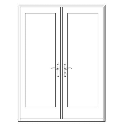 72 in. x 80 in. Professional Series White Aluminum/ Pre-Primed Interior Wood French Patio Door
