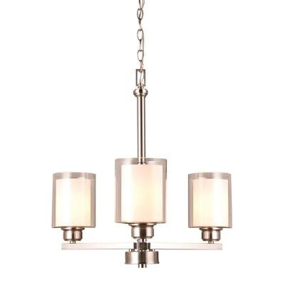 Olso 3-Light Satin Nickel Chandelier