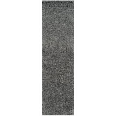 Laguna Shag Dark Gray 2 ft. 3 in. x 8 ft. Runner