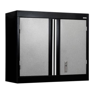 30 in. W x 12 in. D x 26 in. H Modular Steel Wall Cabinet Full Pull in Black/Multi-Granite