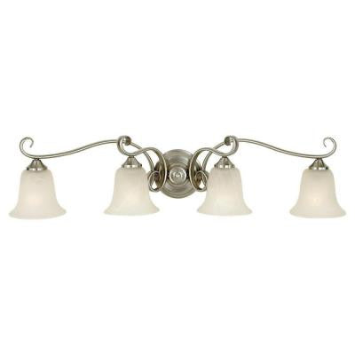 Vista 4-Light Brushed Steel Vanity Light