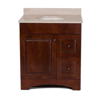 Summit 30 in. Vanity in Auburn with Colorpoint Vanity Top in Maui
