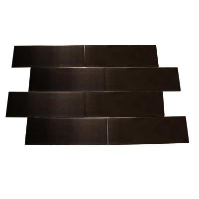 Metal Copper 2 in. x 6 in. x 8 mm Stainless Steel Metal Mosaic Floor and Wall Tile