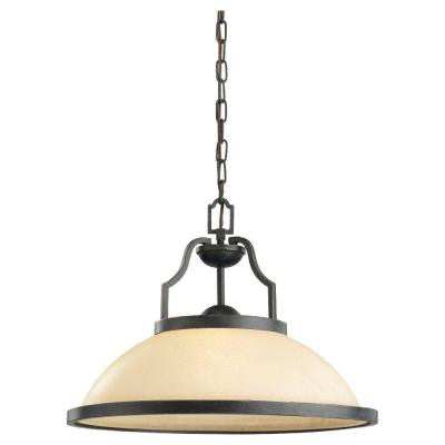 Roslyn 1-Light Flemish Bronze LED Pendant