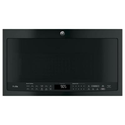 Profile 2.1 cu. ft. Over the Range Microwave in Black with Sensor Cooking