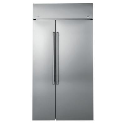 CAFE 48 in W 25.2 cu. ft. Built-In Side by Side Refrigerator in Stainless Steel