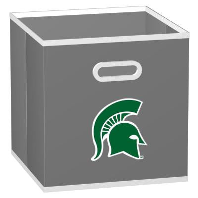College STOREITS Michigan State University 10-1/2 in. x 10-1/2 in. x 11 in. Grey Fabric Storage Drawer