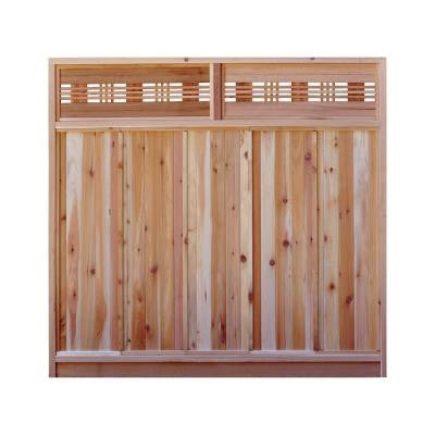 6 ft. H x 6 ft. W Western Red Cedar Horizontal Lattice Top Fence Panel Kit