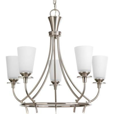 Cantata Collection 5-Light Brushed Nickel Chandelier