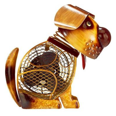 11.75 in. Country Dog Figurine Fan