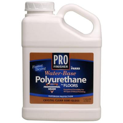 1 gal. Clear Semi-Gloss Water-Based Interior Polyurethane (Case of 4)