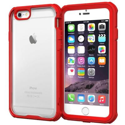 Glacier Tough Hybrid PC TPU Rugged Case for iPhone 6 4.7 - Red