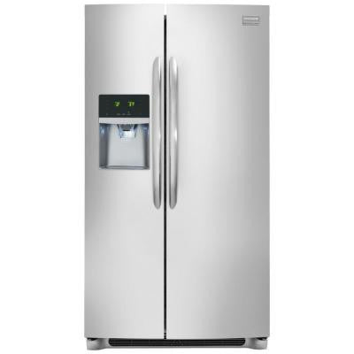 Gallery 33 in. W 22.2 cu. ft. Side by Side Refrigerator in Smudge-Proof Stainless Steel, ENERGY STAR