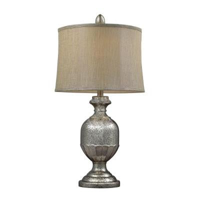 Corcrest 29 in. Antique Mercury Glass Table Lamp with Shade