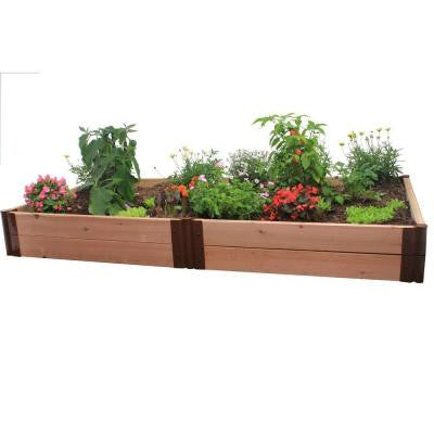 Two Inch Series 4 ft. x 8 ft. x 12 in. Cedar Raised Garden Bed Kit