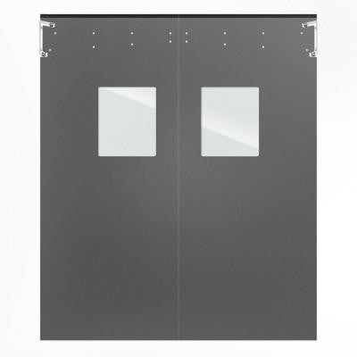 Optima 1/4 in. x 60 in. x 96 in. Single-Ply Light Gray Impact Door