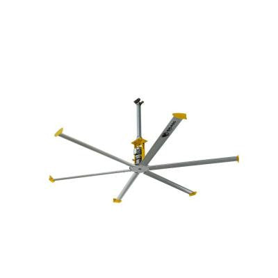 4900 168 in. Indoor Silver and Yellow Shop Ceiling Fan