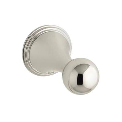 Finial Traditional Single Robe Hook in Vibrant Polished Nickel
