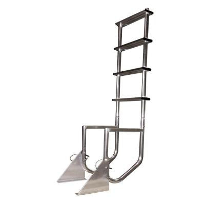Aluminum 4-Step Flip-Up Dock Ladder