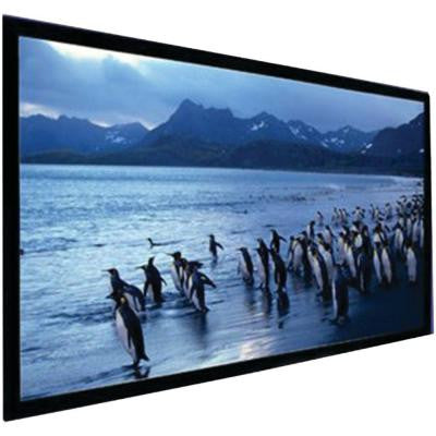 135 in. Stratus Series Pearl White Fixed-Frame Screen