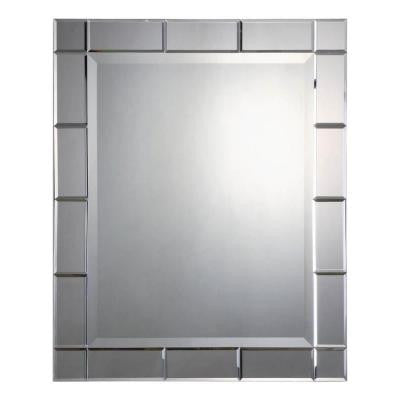 33 in. x 27 in. Glass Block Rectangle Mirror