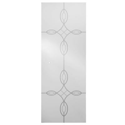 31 in. Pivoting Shower Door Glass Panel in Tranquility